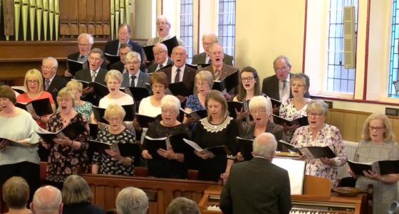 Bethel Choir in full song